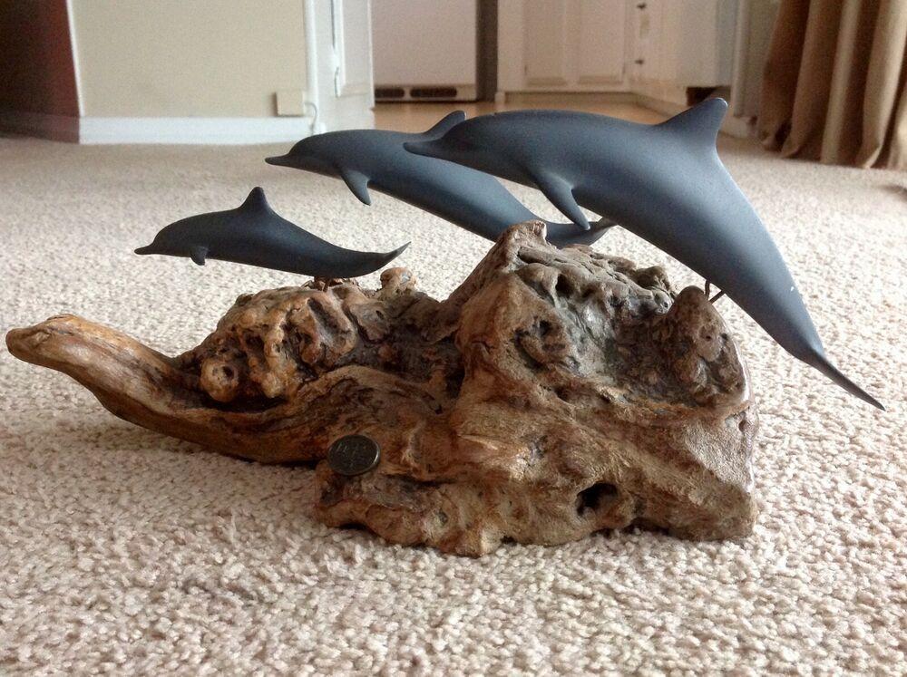 John perry dolphin driftwood sculpture ebay driftwood