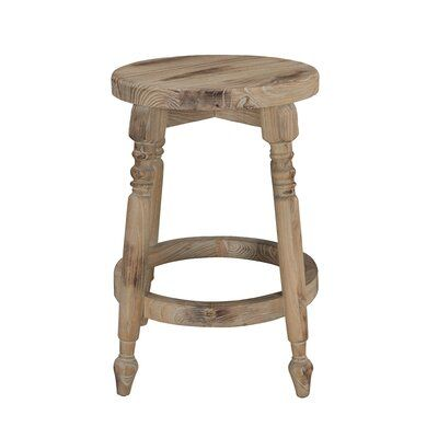 Ophelia Co Henson Solid Wood Bar Counter Stool In 2020