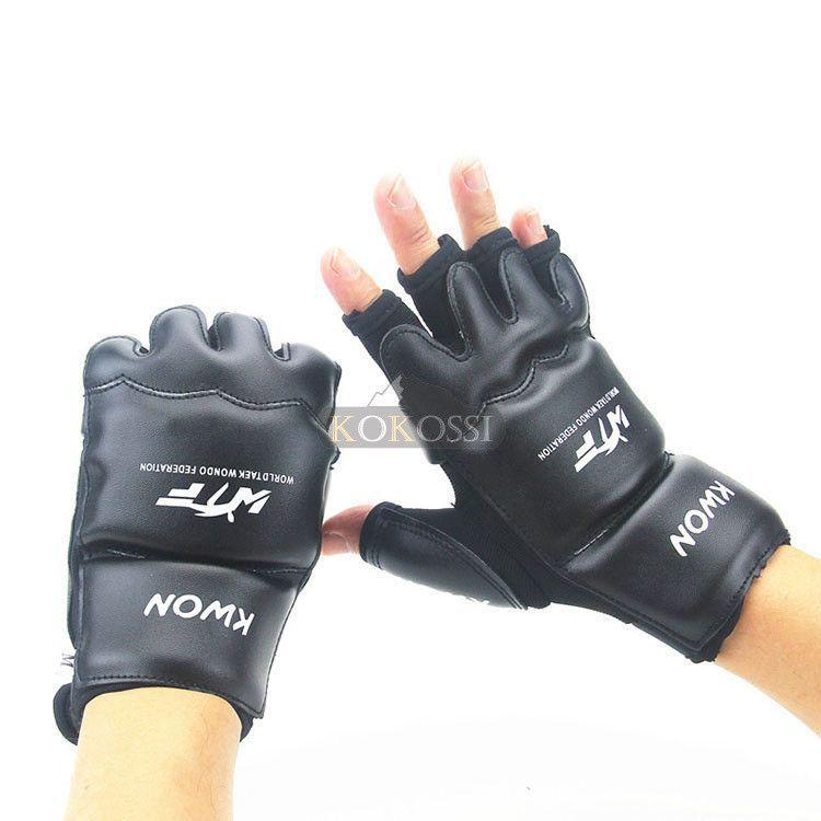 Half Fingers Kids//Adults Sandbag Punch Training Kick Boxing Gloves Sanda//Karate//