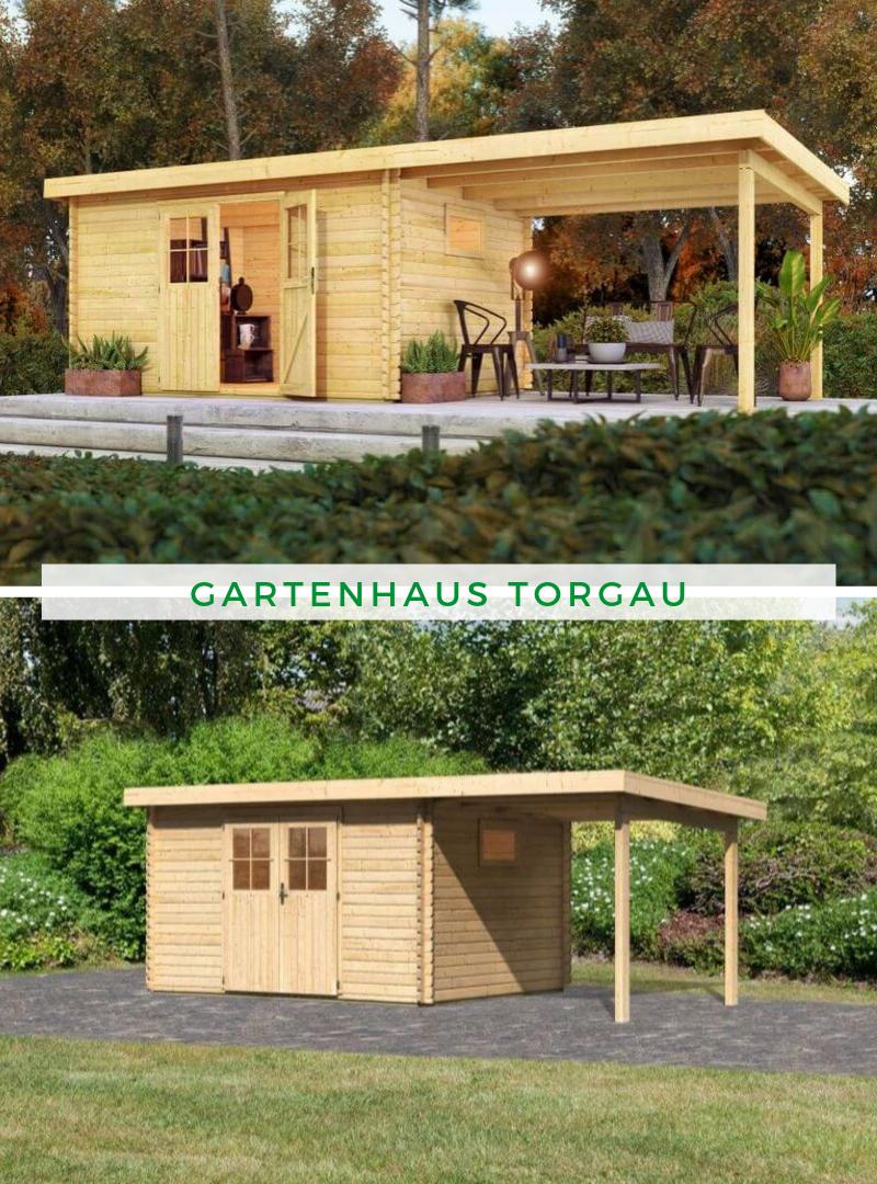 Gartenhaus Karibu Torgau 4 Im Set Mit Anbaudach 2 3 M Gartenhaus Karibu Gartenhaus Gartenhaus Mit Terrasse