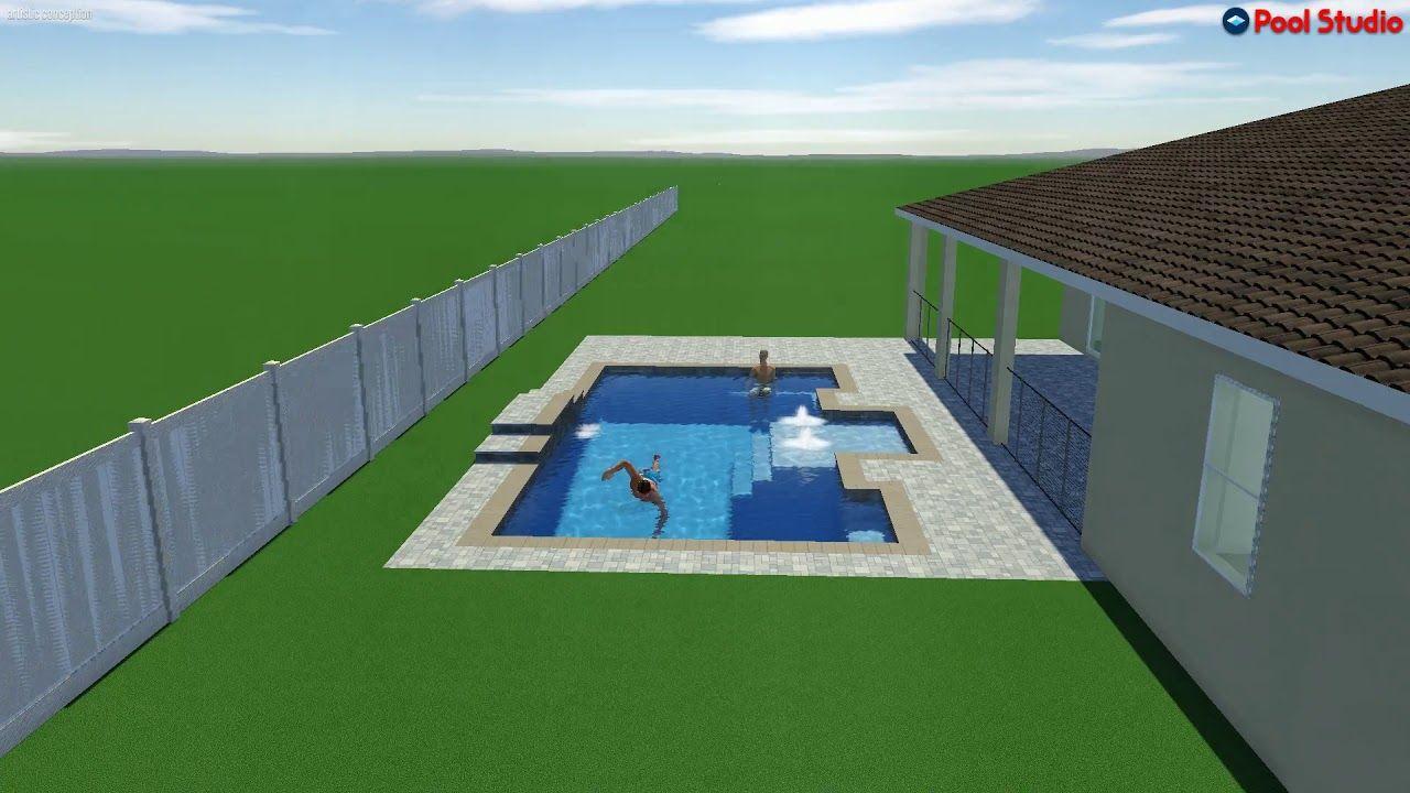 Pool Studio 3d Swimming Pool Design Software Youtube Swimming Pool Designs Pool Designs Pool