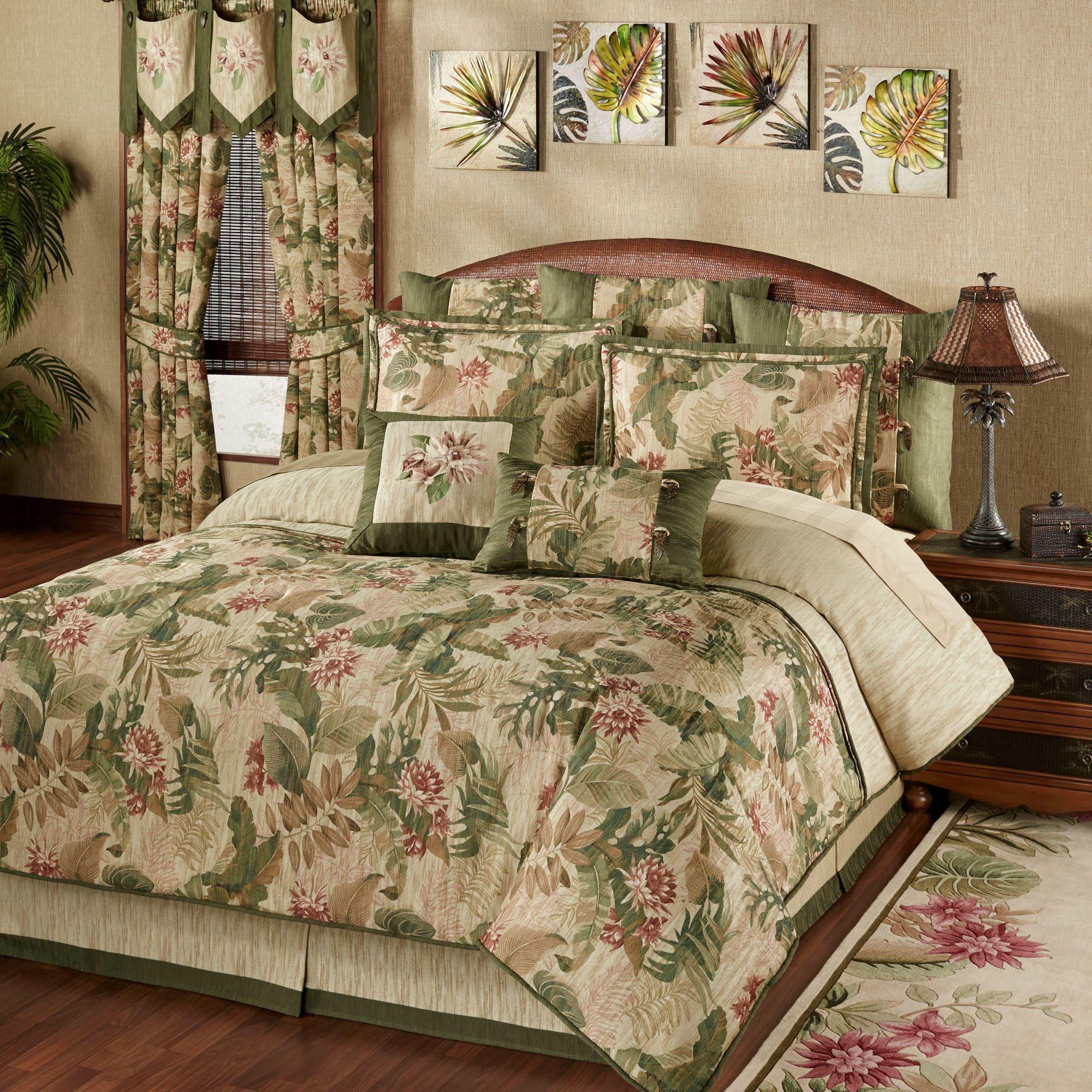 Tropical Haven Comforter Bedding Tropical bedrooms, Bed