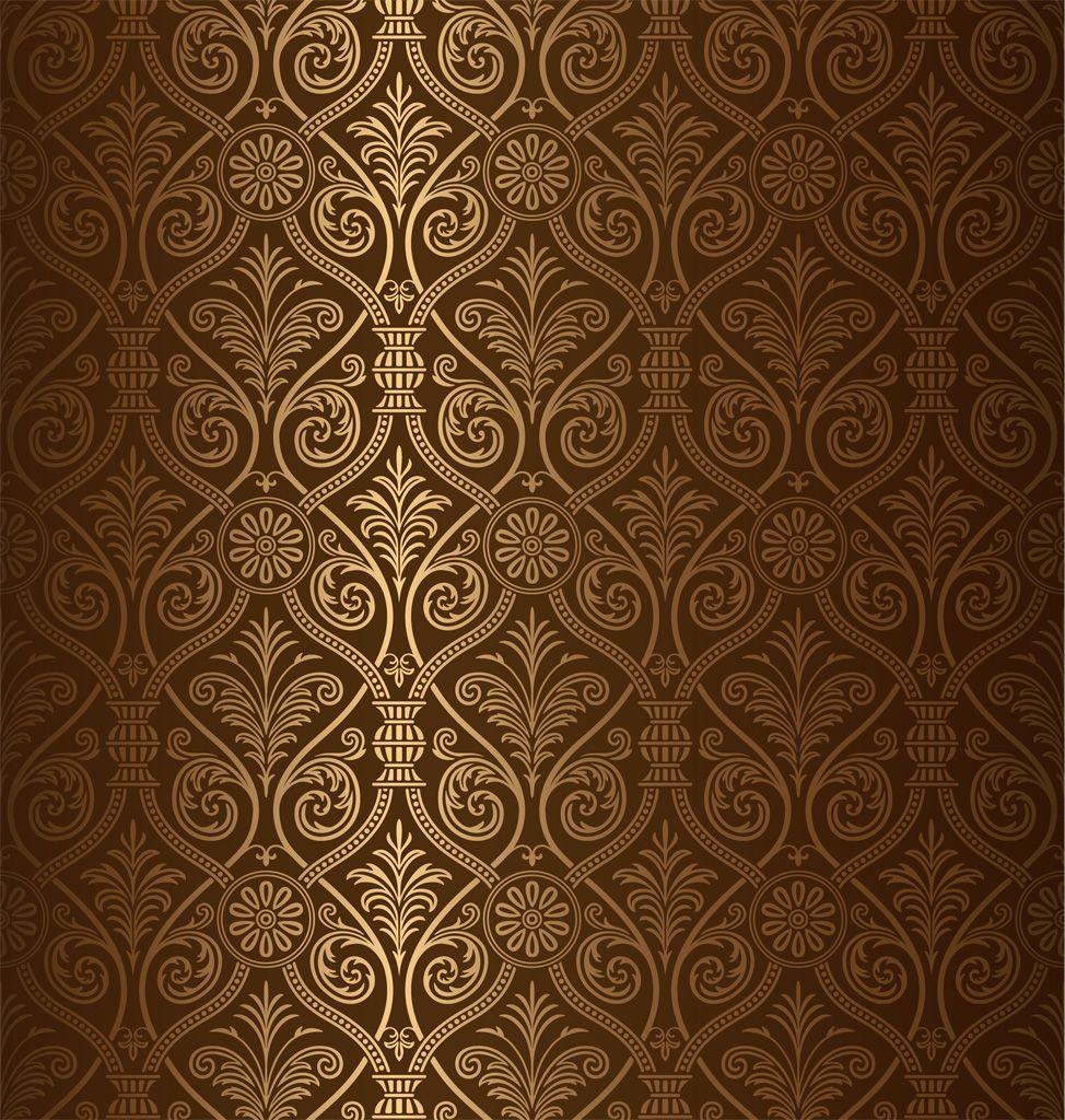 フリーイラスト素材 イラスト 背景 装飾模様 茶色 ブラウン Ai
