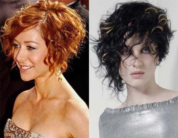 Asymmetrical Haircut Curly Long Google Search Bob