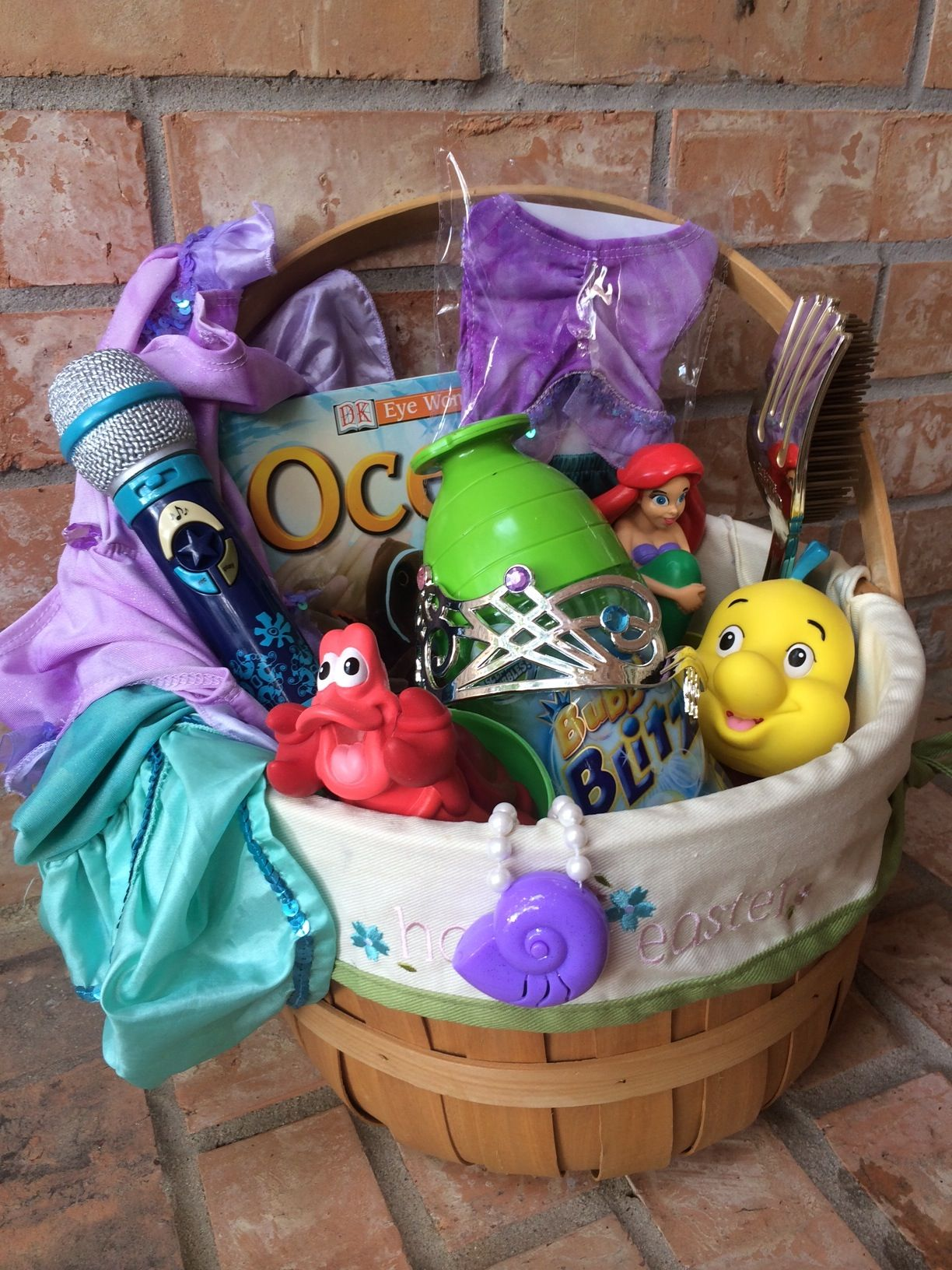 Disney themed easter basket ideas ariel themed easter basket disney themed easter basket ideas ariel themed easter basket lots of other great ideas negle Images