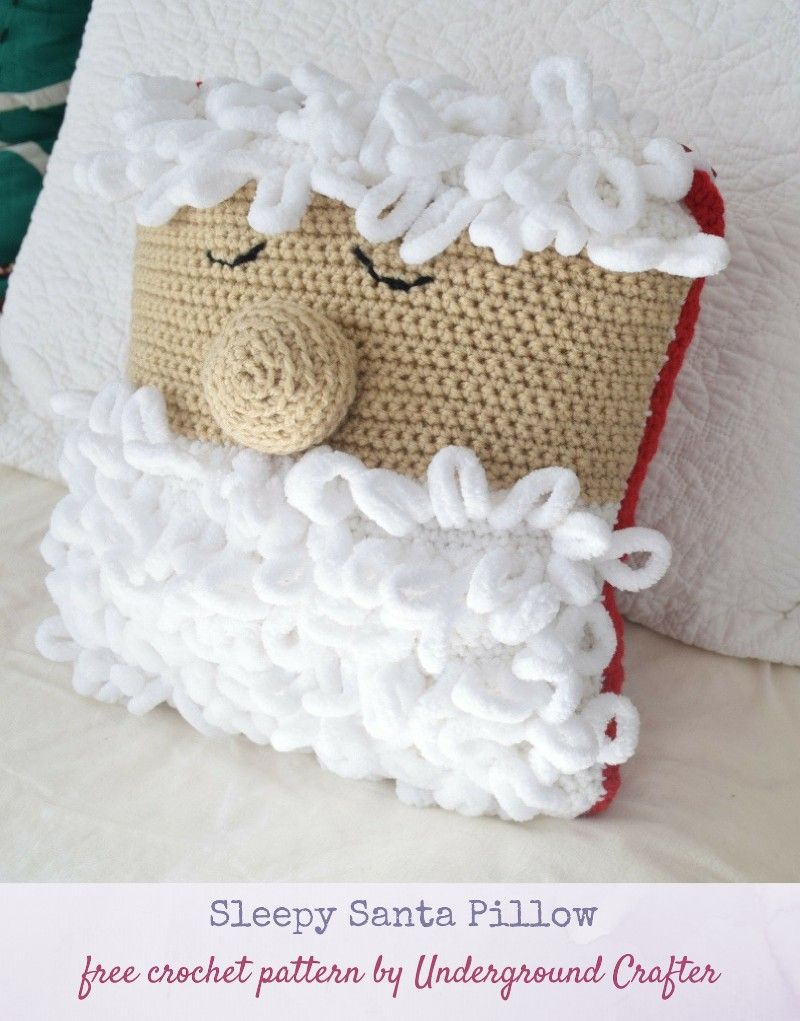 Crochet Pattern: Sleepy Santa Pillow | adventni venček | Pinterest ...