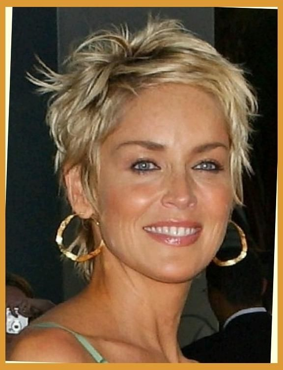 Photo Gallery Of Sharon Stone Short Haircuts Viewing 15 Of