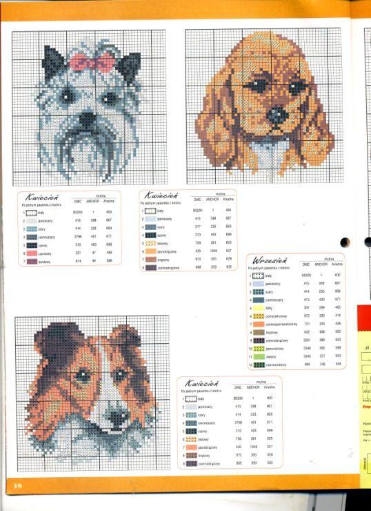 Pin de Nettie Schultz en X-Stitch ~ Dogs | Pinterest | Bordado
