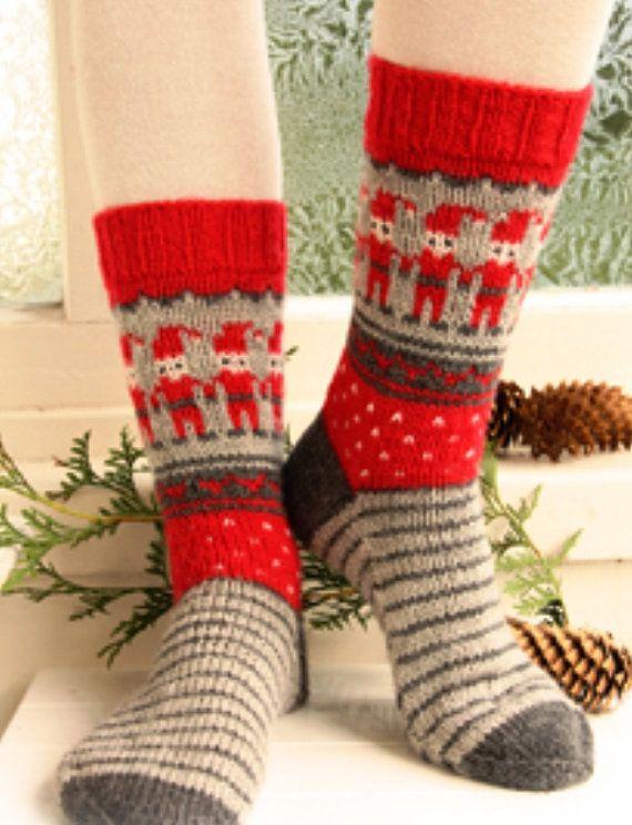 cbe712ca19dbb knit socks wool socks Christmas socks knitted socks Scandinavian ...