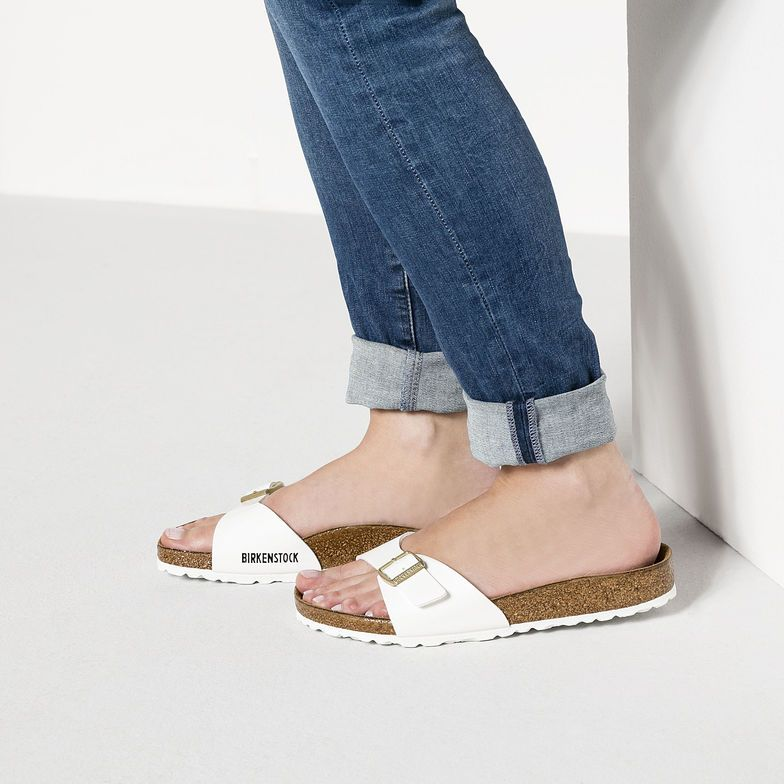 Original Birkenstocks Sandals Women Madrid Birko Flor Patent