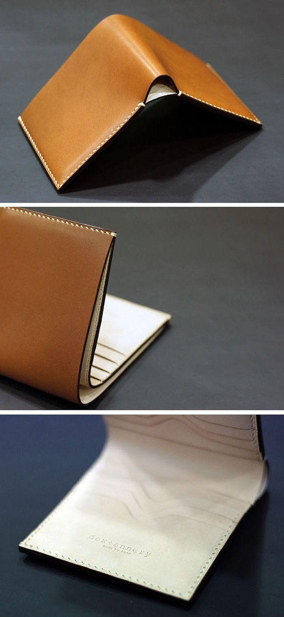 handmade leather wallet billfold credit card case business. Black Bedroom Furniture Sets. Home Design Ideas