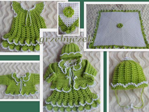 Zielono - biały komplecik