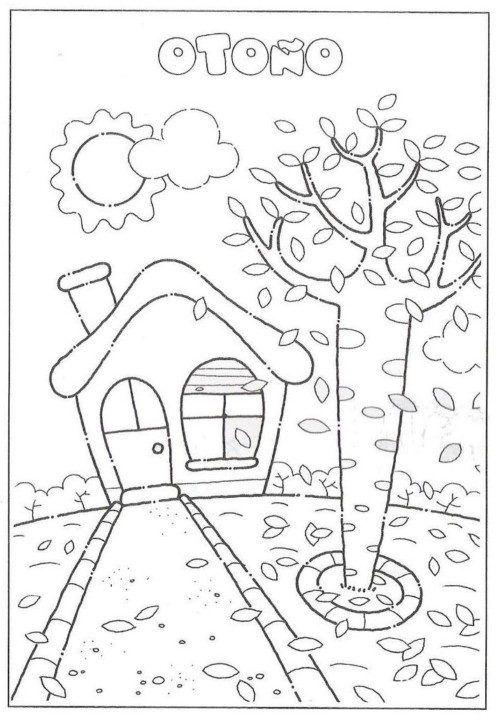 Imágenes para el Otoño con Dibujos para Imprimir y Colorear | otoño ...