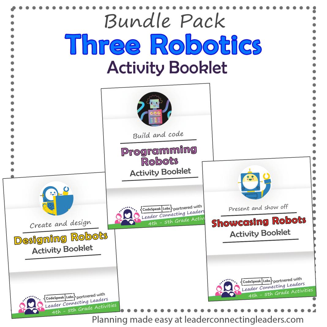Three Robotics Activity Booklet Bundle Pack 4th