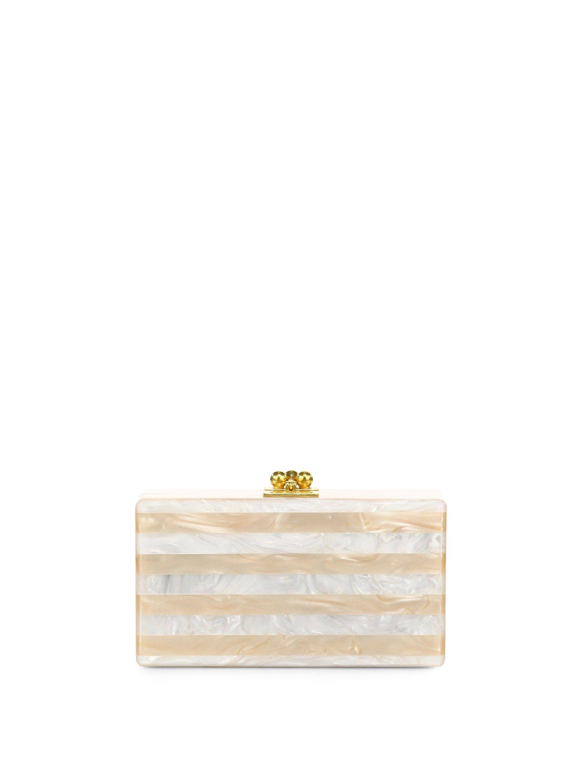 2889f2ac02 EDIE PARKER Jean Glitter Stripe Acrylic Clutch. #edieparker #bags #clutch # denim #glitter #hand bags #
