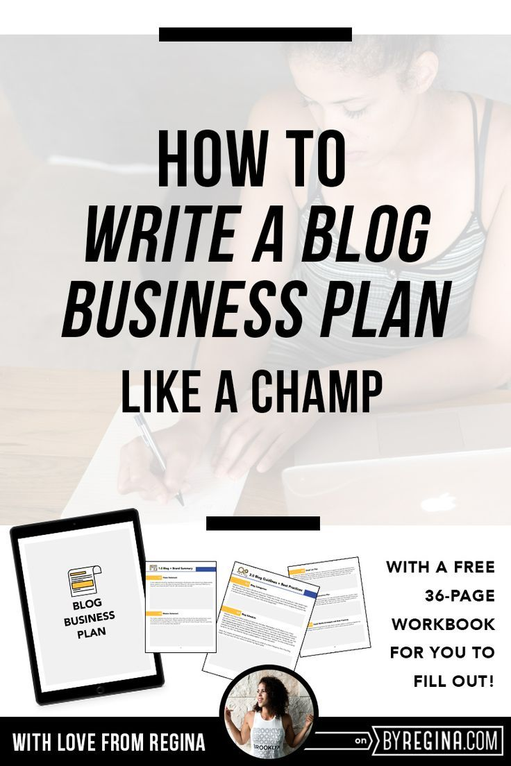 How To Write A Blog Business Plan The Guide For Champions