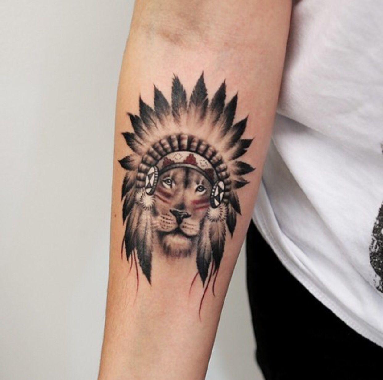 Lion indian Tattoo Lion tattoo design, Indian tattoo