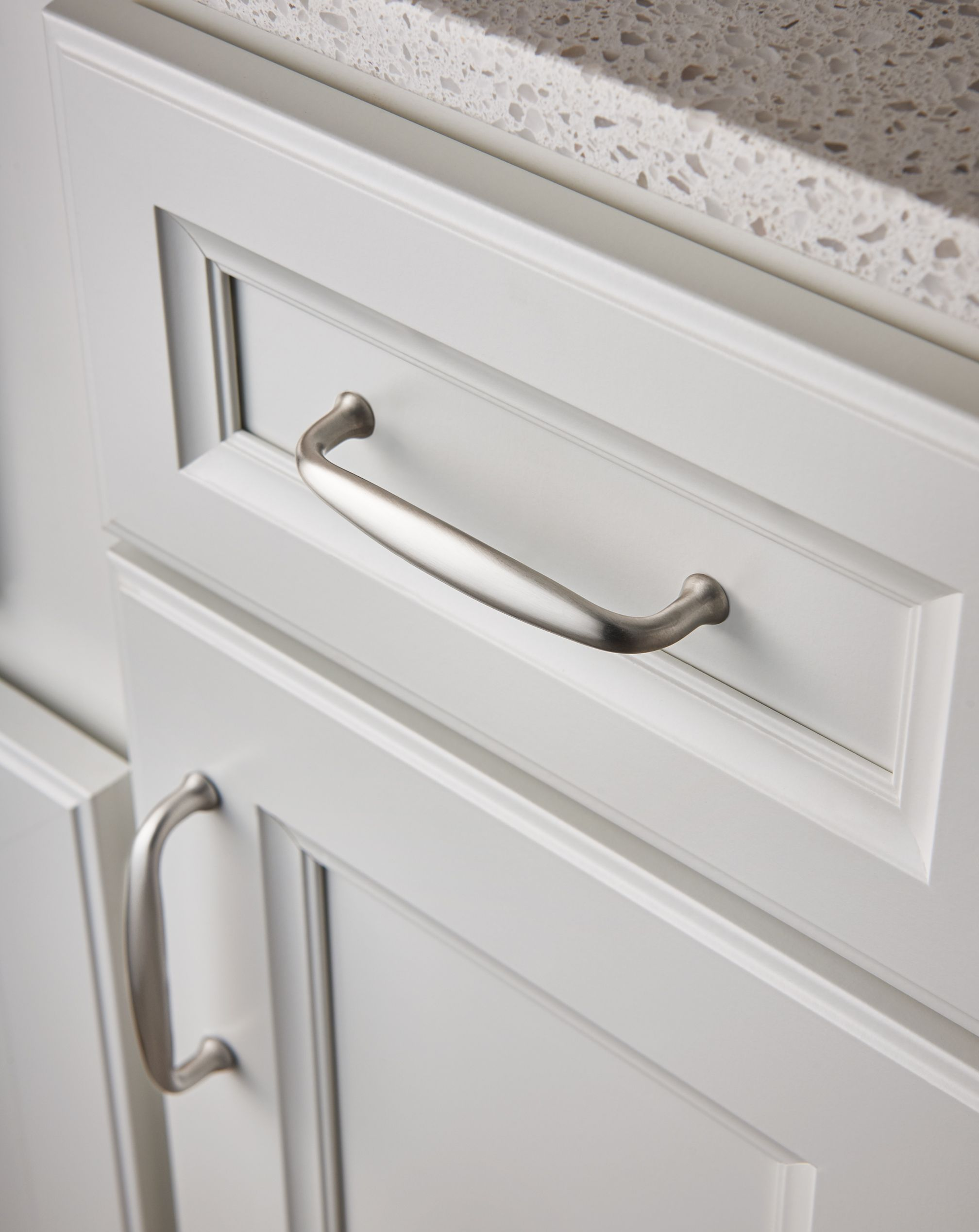 M1279 4 Quot Cc Pull In Brushed Satin Nickel Cabinet Hardware Brushed Nickel Kitchen Cabinet