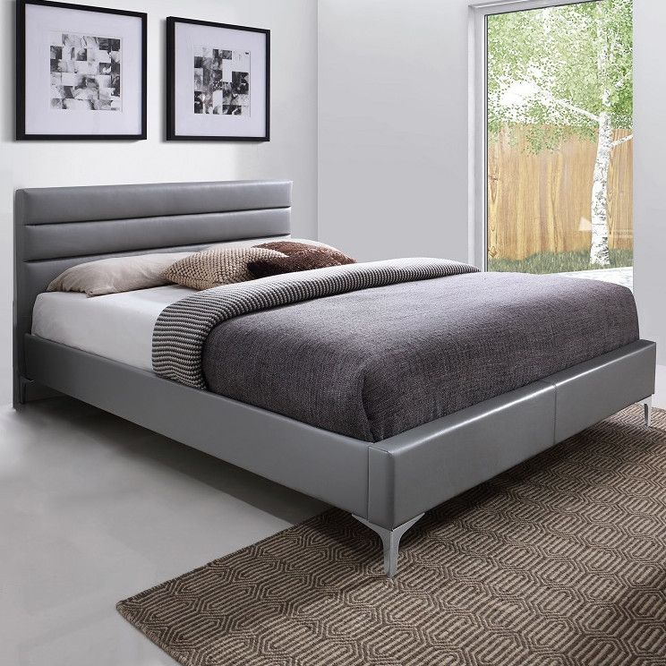 Nario Platform Bed in Grey by JM Beds by JM Pinterest