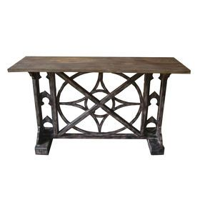 Distressed Wood Console Table 52X30
