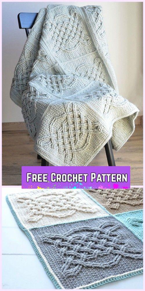 Crochet Celtic Tiles Blanket Free Pattern