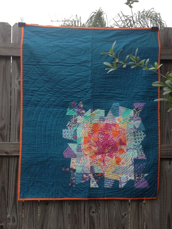 Cool modern quilt- great for using the scrap stash ... - photo#41