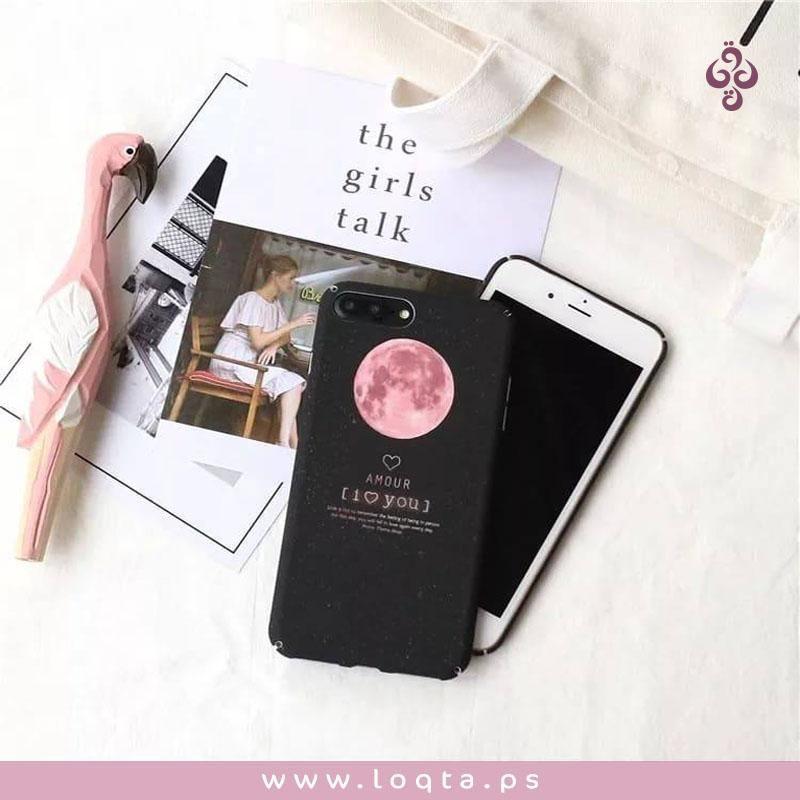 دلعي جوالك كفر القمر لموبايل أيفون 7 بلس أسود تصميم مميز عضم للصبايا سهل التنظيف لخدمة الزبائن فيك تستفسر مباشرة على Girl Talk Electronic Products Phone