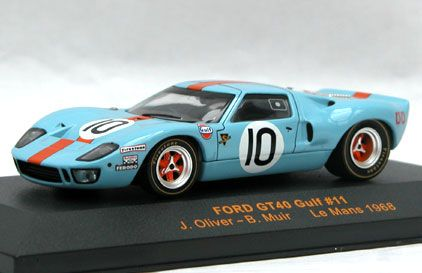 Gulf Gt 40 34 Ixo Ford Gt40 Gulf Blue Body With Orange Stripe