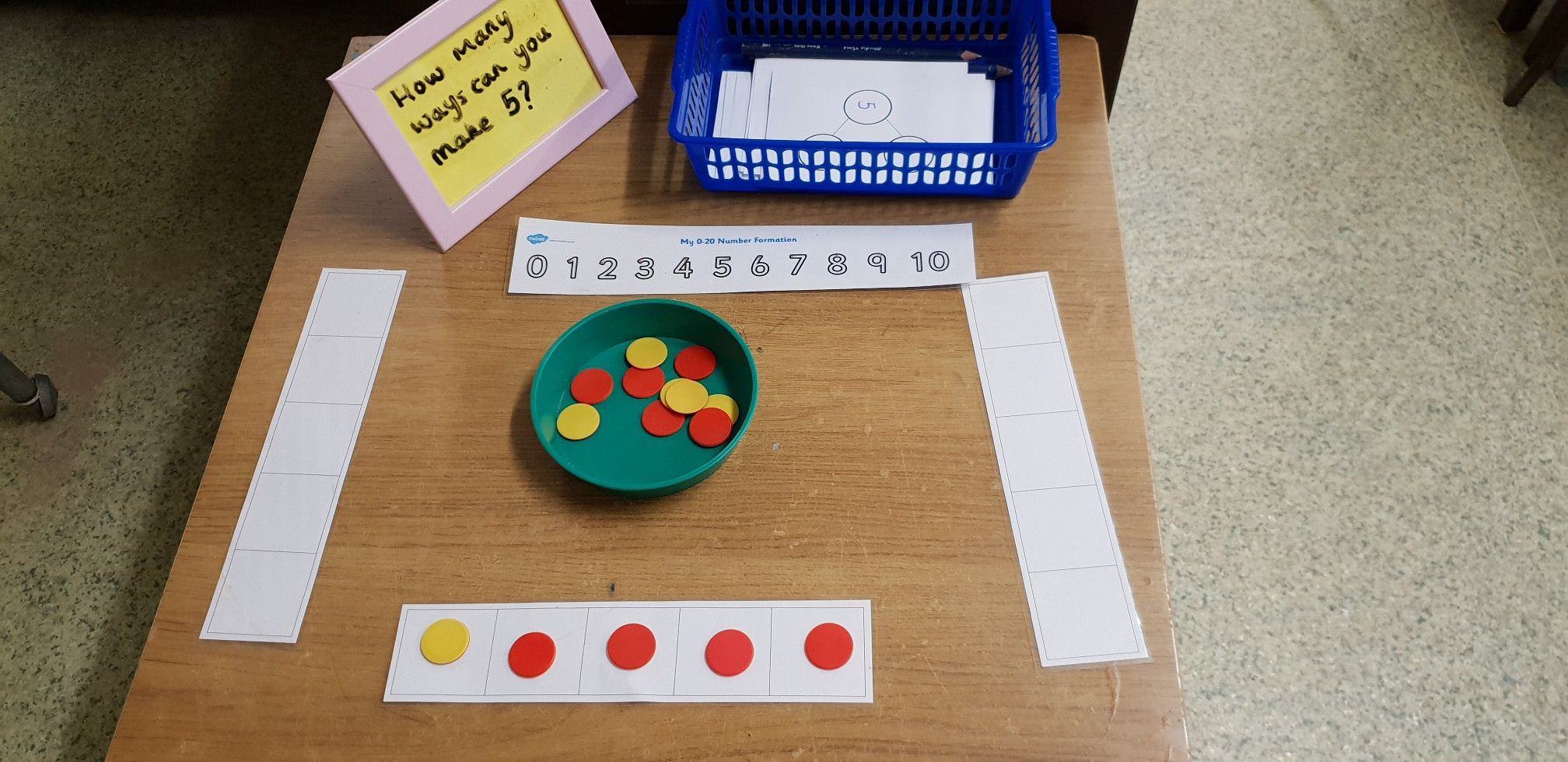 How Many Different Ways Can You Make 5 Eyfs