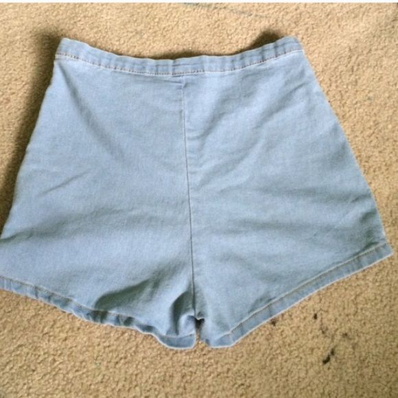 High waisted AA style Tap short light wash Tap shorts