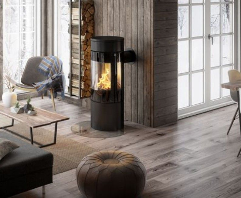 Rais Viva L 120 Wood Stove Freestanding Fireplace Wood Burning Stove Wood Burning Stoves Living Room