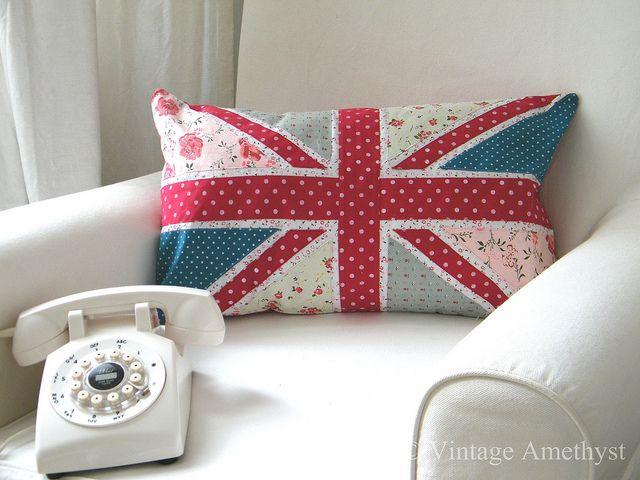 union jack pillow www.vintageamethyst.co.uk