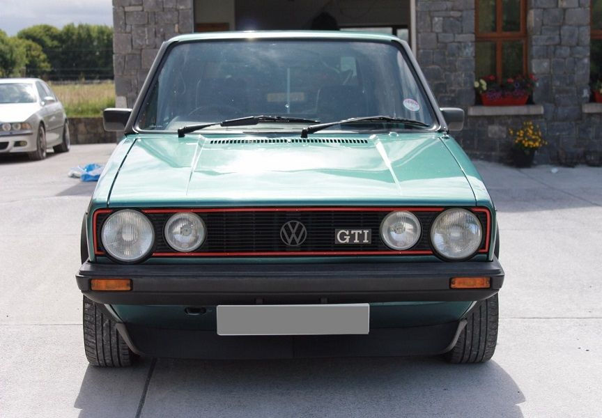 Mk1 Golf Gti Campaign Edition Front Lights And Grille Volkswagen Golf Mk1 Volkswagen Golf Gti