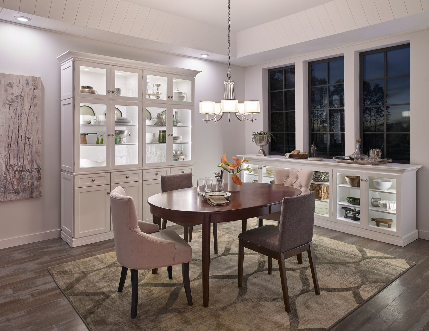 The Tallie Chandelier Brings A Calming Glow To Dining Areas