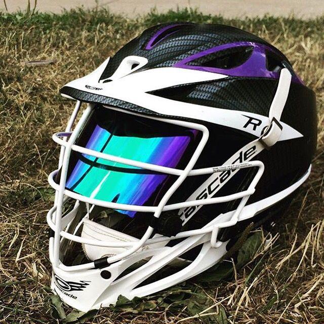 Shoc Sky Blue Iridium Lacrosse Football Helmet Visor In A