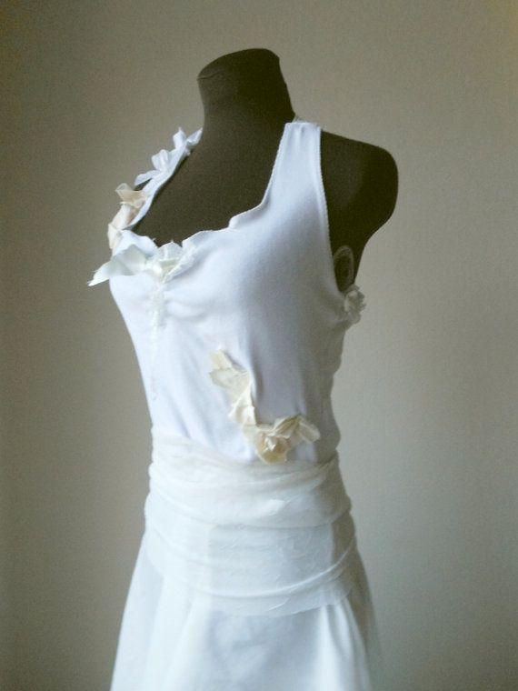 Pixie Wedding Dress Elven Boho Hippie Gown Alternative Rustic Tattered Faerie Bohemian Fairy Woodland