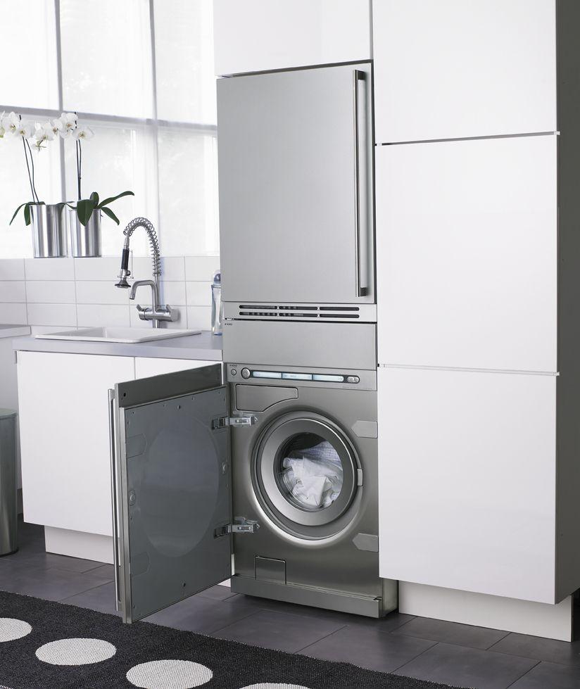 Asko integra la lavadora y la secadora en tu cocina for Muebles lavanderia casa
