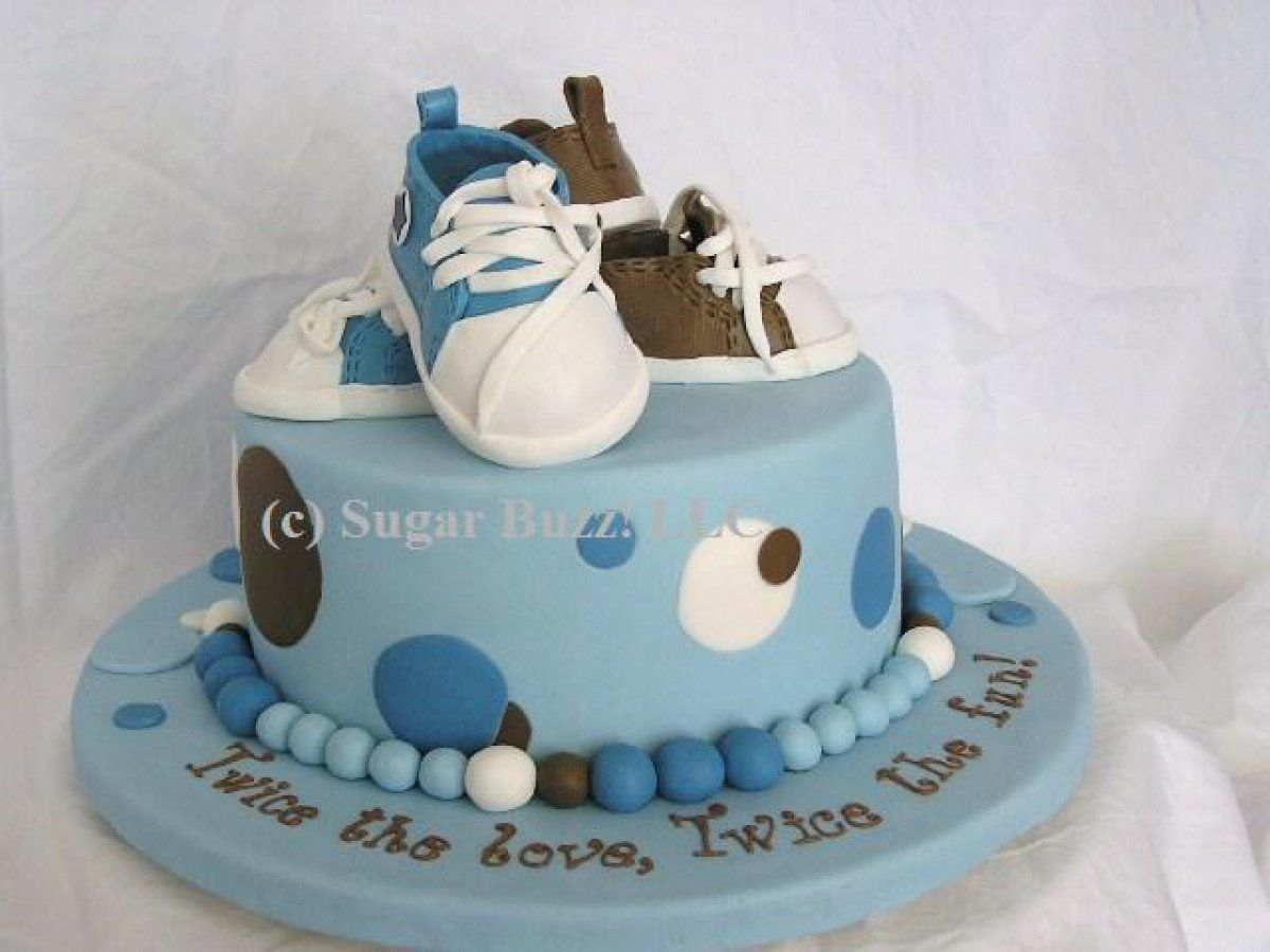 Sports baby shower decorations for boys sab cakes boy for Baby shower cake decoration ideas