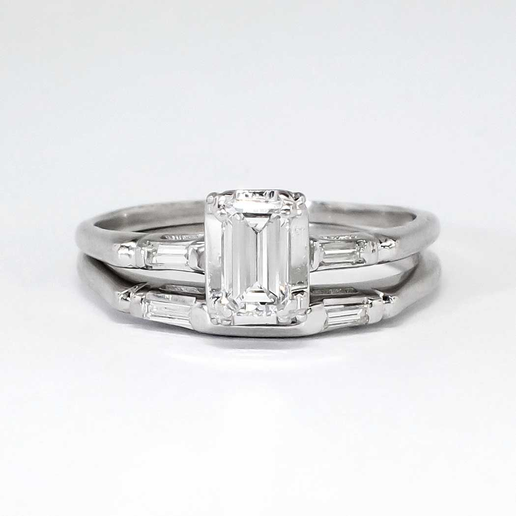 crown ring co tiffany engagement and platinum wedding products rings cut diamond in emerald