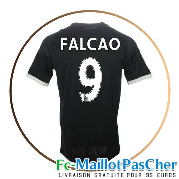 Maillots FC Chelsea noir FALCAO 9 Third 15 2016 2017