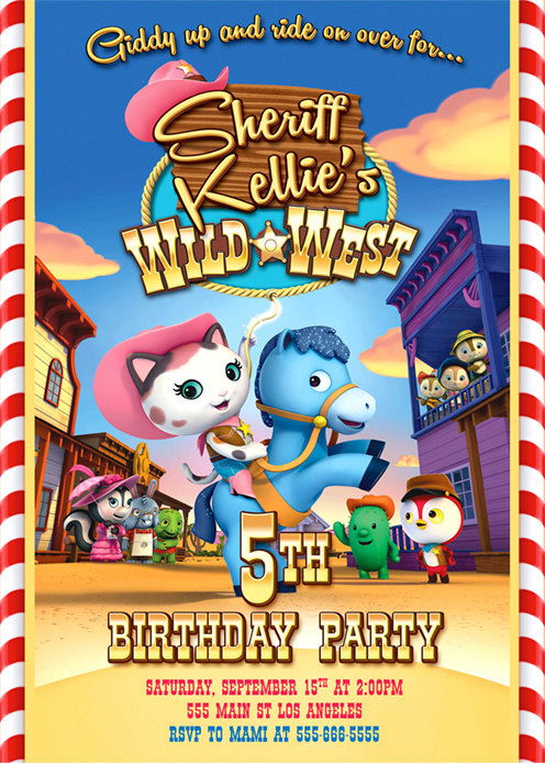 Sheriff Callie Invitation Sheriff Callie Birthday Party Products