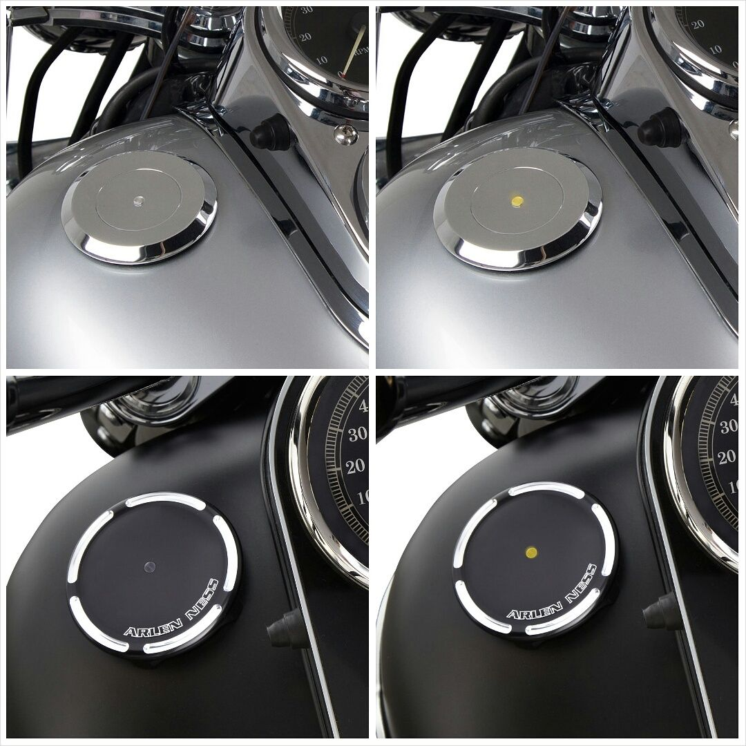 Ness Led Gas Caps Are Equipped With A Low Fuel Warning