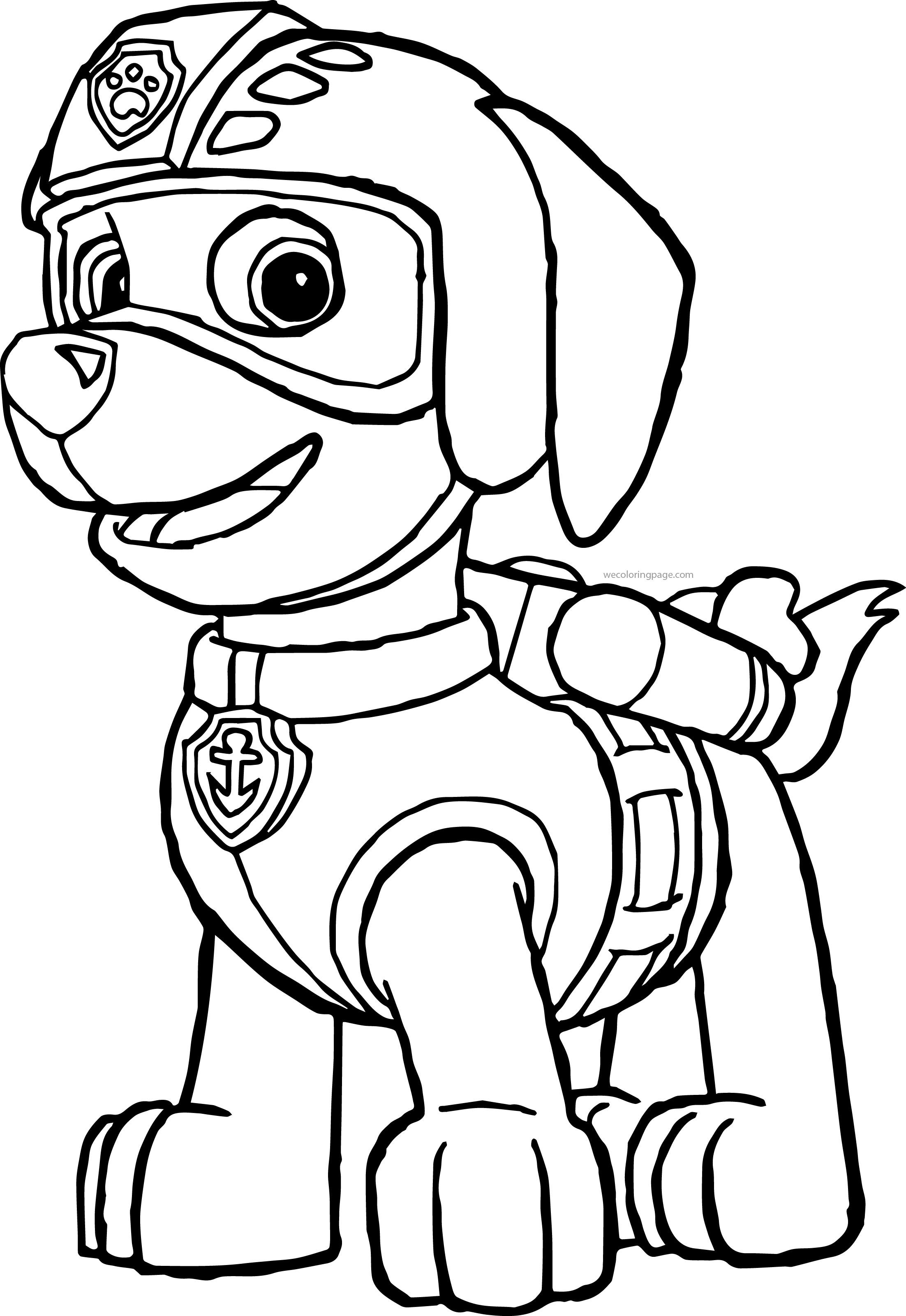 Paw Patrol Coloring Pages Wecoloringpage Paw Patrol Coloring Pages Paw Patrol Coloring Zuma Paw Patrol