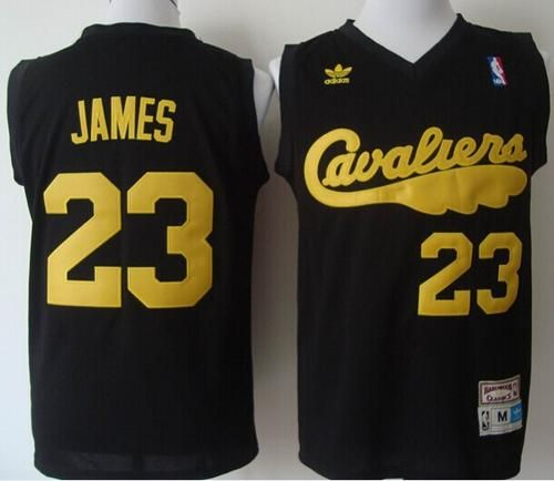 704df7d33f6a Cavaliers  23 LeBron James Black Throwback Stitched NBA Jersey ...