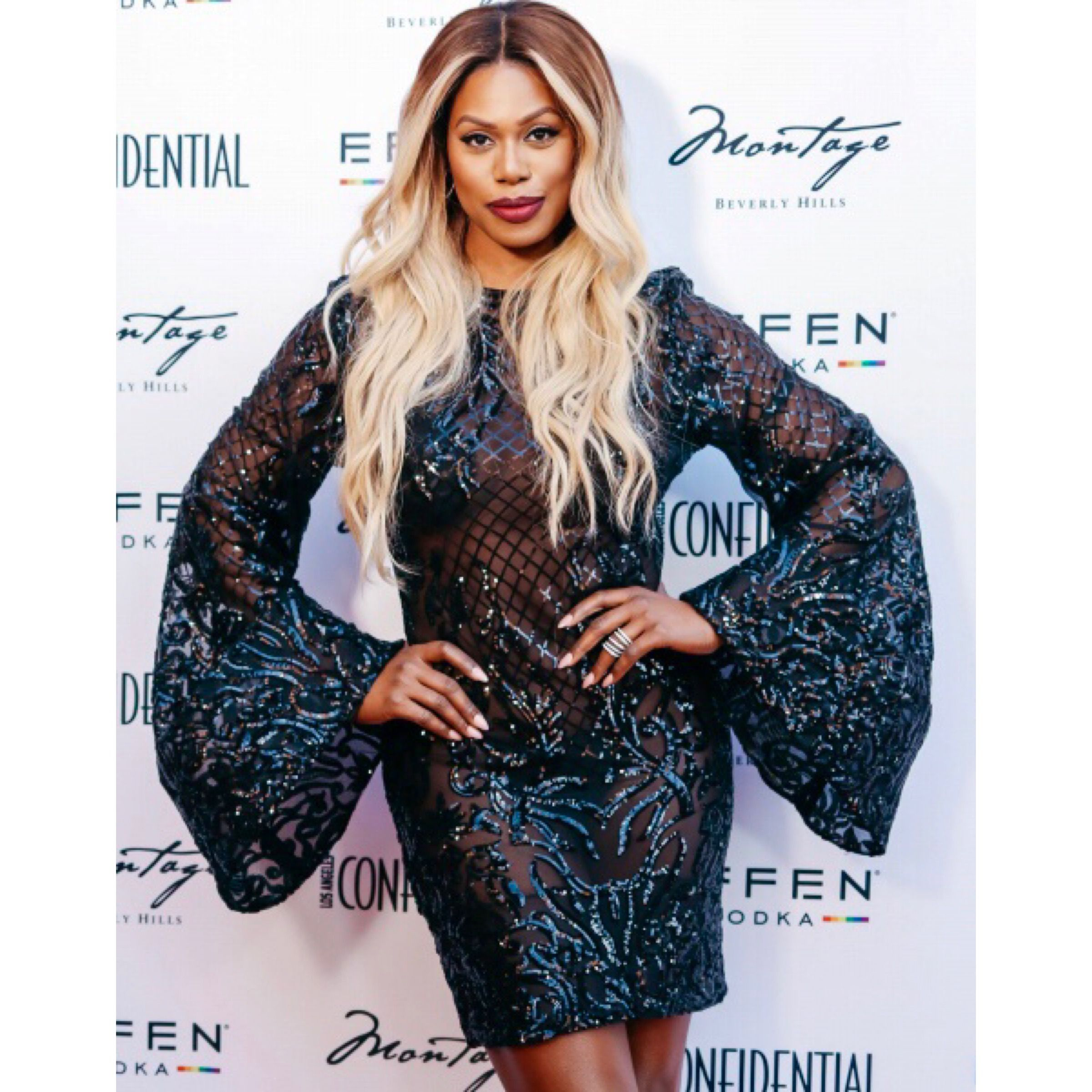 """🌈 #Pride Month is approaching and we are gearing up for the season. Today we share a pride event we did recently. The ravishing #LaverneCox hosted the event #PortraitsofPride"""" in partnership with #GLAAD.  📸Photo Credit: Dylan Lujano  #stepandrepeat #stepandrepeats #redcarpet #laconfidential #lapride  #lgbtq #lgbtqpride #lgbt #lacpride #oitnb #oitnbfamily #oitnbfans #orangeisthenewblack #anthonyrapp #portraitsofpride #wilsoncruz  #startrekdiscovery #backdrop #eventprofs #eventing #eventplanner"""