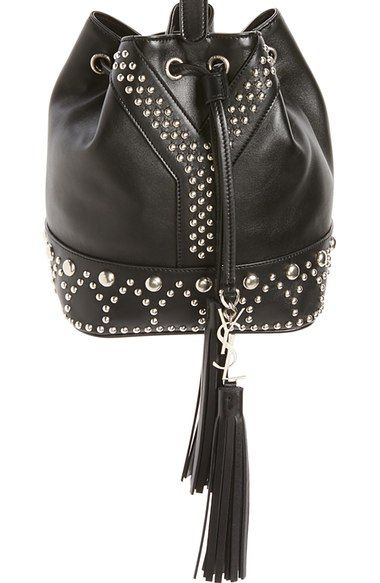 Saint Laurent Small Y Stud Calfskin Bucket Bag Available At Nordstrom