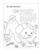 little golden books the poky little puppy coloring page
