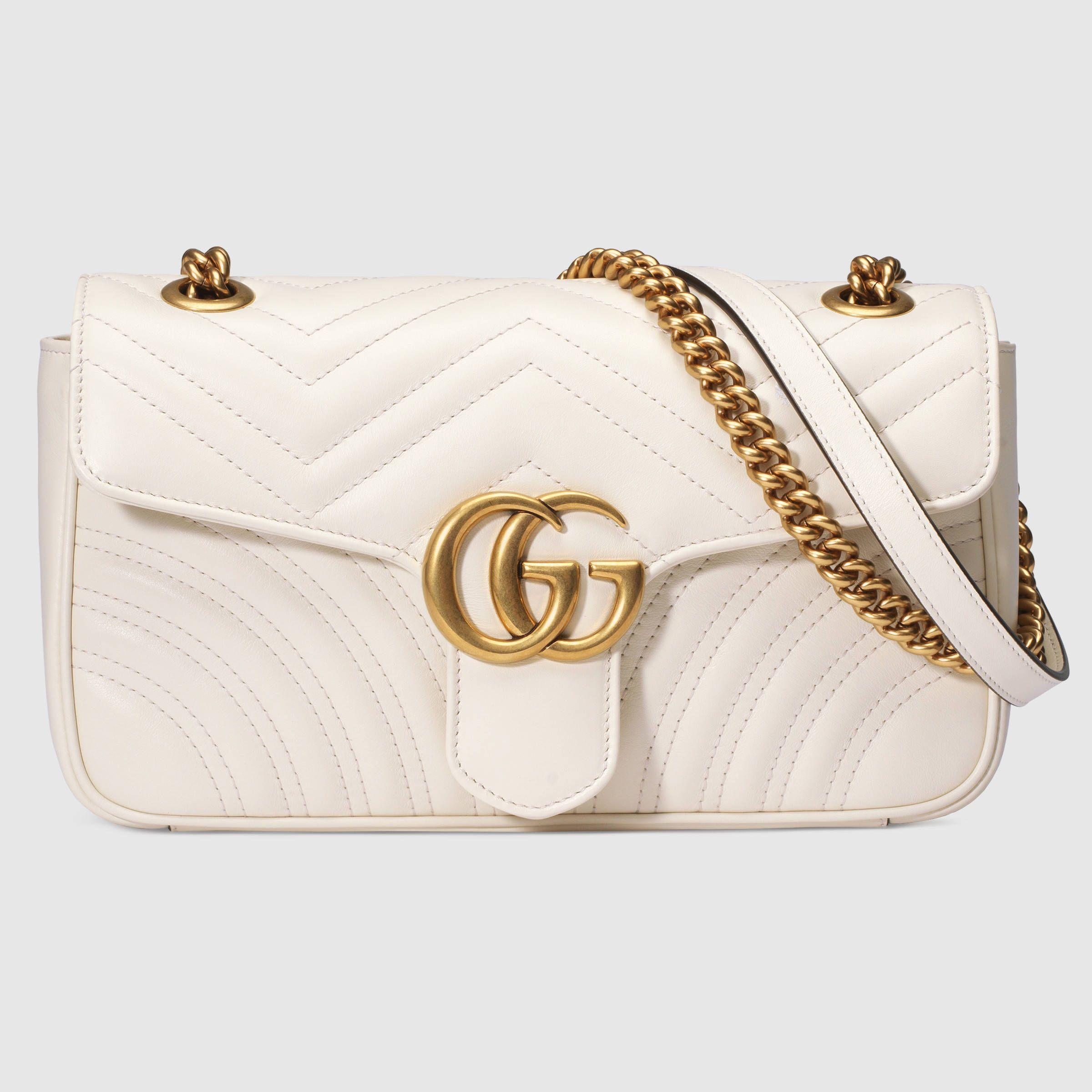 f309e09f60c4 GG Marmont matelassé shoulder bag - Gucci Women s Shoulder Bags  443497DRW3T9022