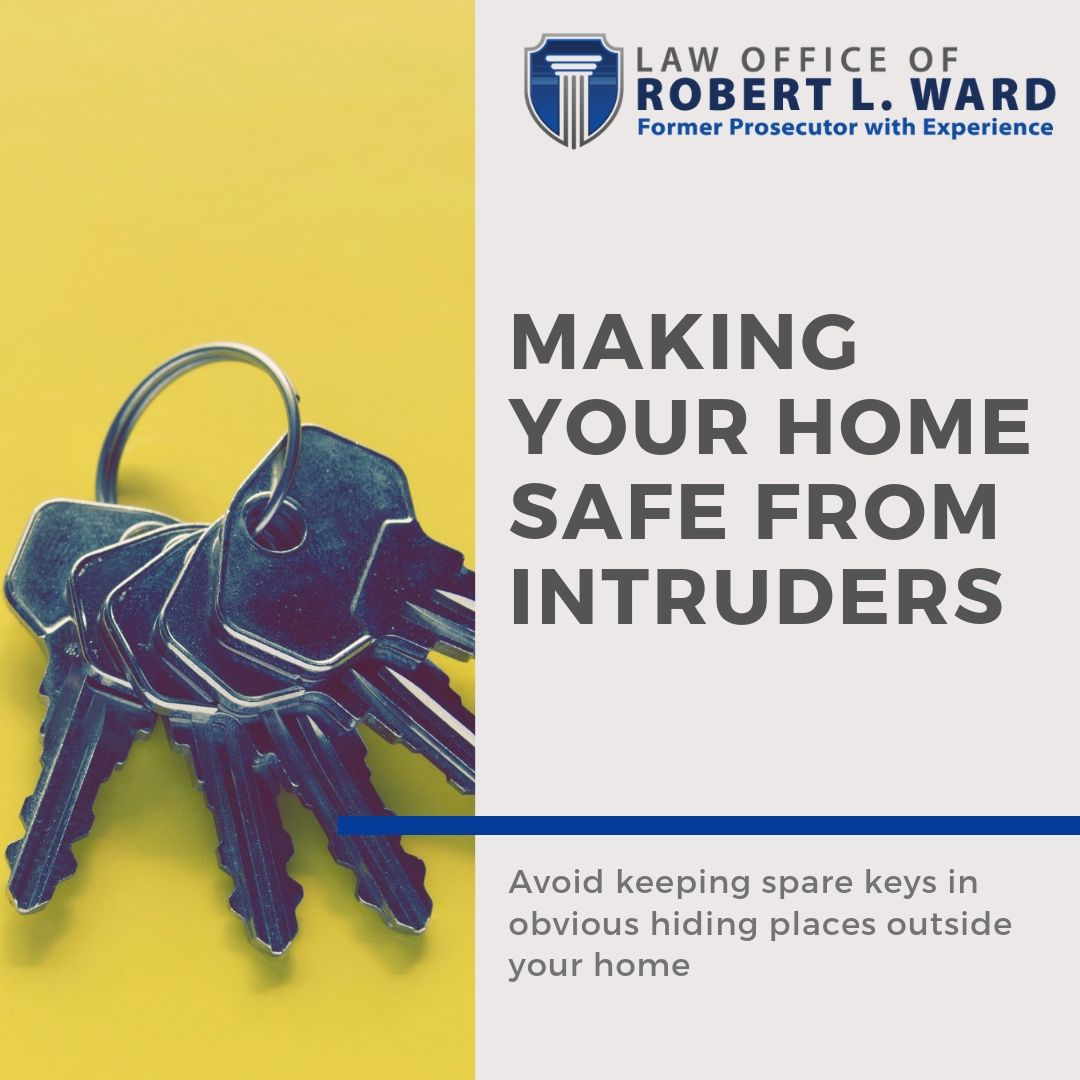 Avoid keeping spare keys in obvious hiding places outside