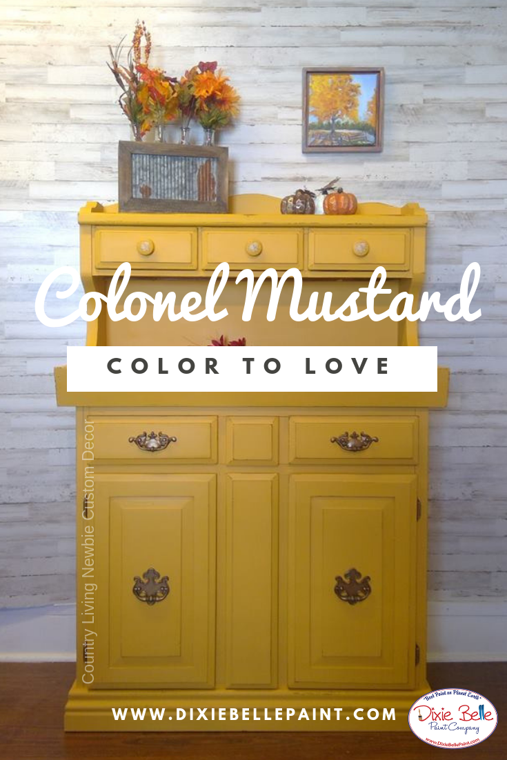 Colonel Mustard Is A Fun Retro 70 S Color Available Exclusively Through Dixie Belle Paint Yellow Painted Furniture Colorful